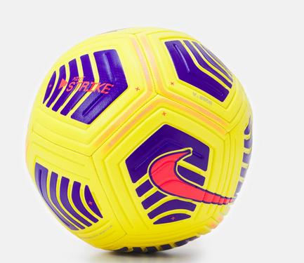 Nike Strike Soccer Fußball - gelb/lila/orange