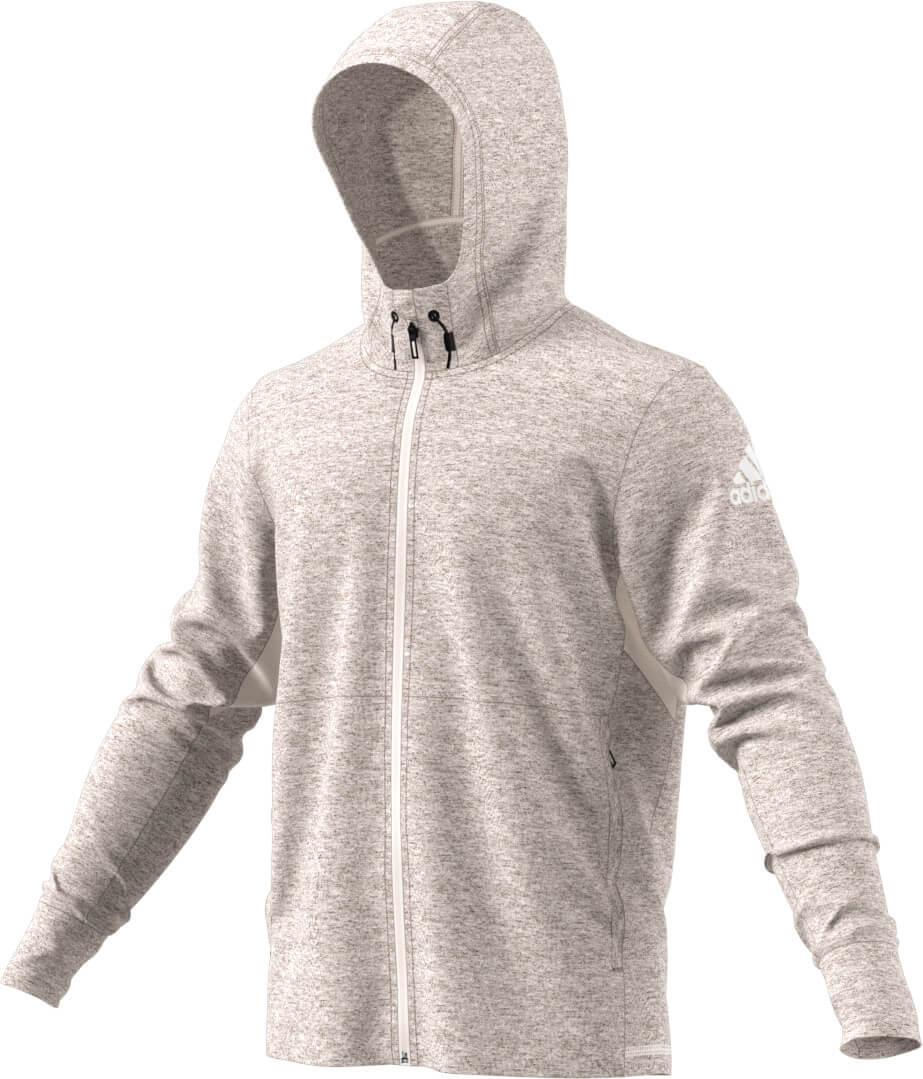 adidas WO FZ Climacool Hoody Jacket grau