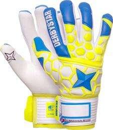 Derbystar Torwarthandschuh Mamba II - blau/gelb/weiß