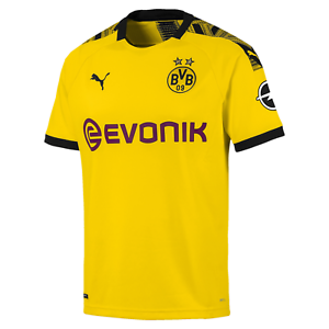 Puma BVB Home Shirt Replica with Evonik Logo with Opel - gelb