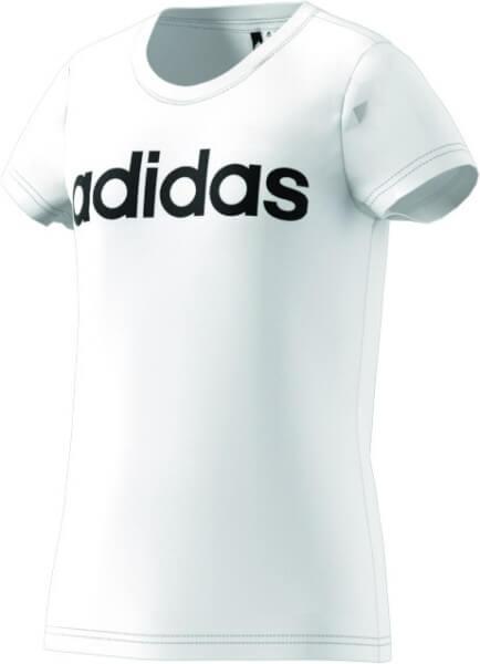 adidas Kinder Linear Tee Shirt weiß