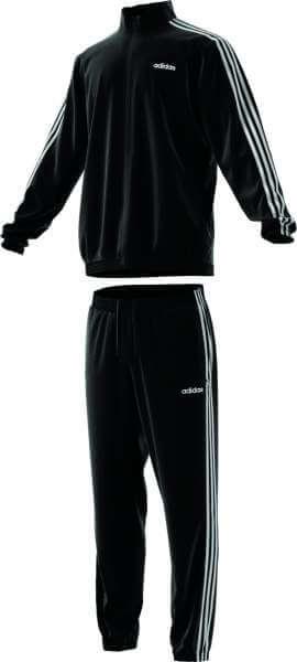 adidas 3 Stripes Woven Cuffed Tracksuit - schwarz